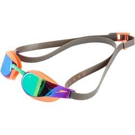 speedo Fastskin Elite Mirror Goggle Fluo Orange/Lawn Green